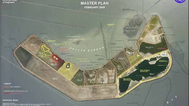 Poplar Island: la reconstrucción de una isla vista desde el espacio