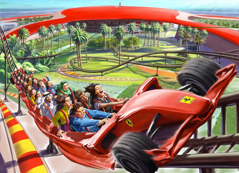 The World's Fastest Roller Coaster is a Ferrari