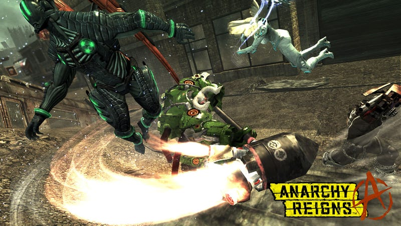 Anarchy Reigns' Big Bull Nails You With The Jet Hammer