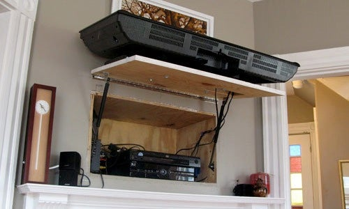 DIY Accessory-Hiding TV Compartment