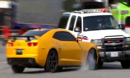 Bumblebee Smashes Cop Car In Yet Another Transformers 3 Accident