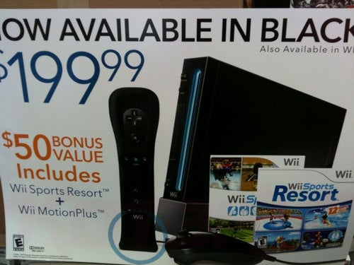 Black Wii Bundle Shows Up In GameStop Marketing