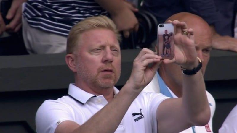 Boris Becker Has A Custom Boris Becker Phone Cover