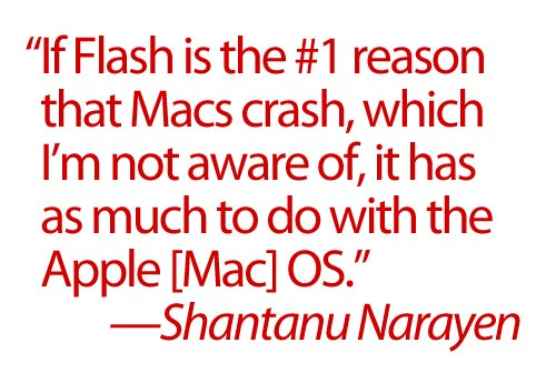 Adobe to Apple: If Mac OS X Crashes, It's Not Flash, It's Your Fault