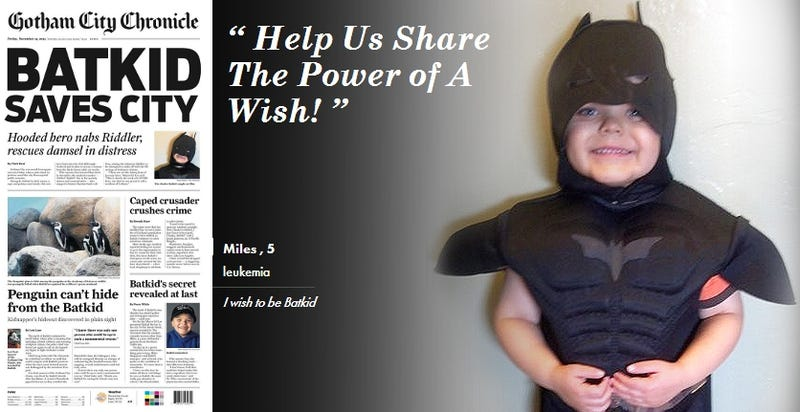 San Francisco Turns Into Gotham for Cancer-Fighting 'Batkid'