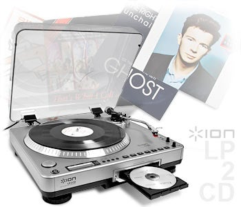 ION LP2CD Turntable Rips Your Vinyl Records Straight to CD