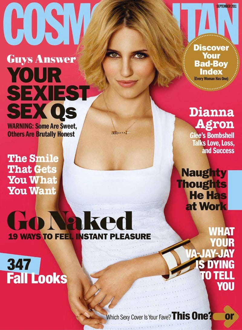 Cosmo Mangles Dianna Agron, Says 'Sorry' With A Whole New Body
