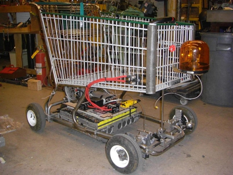 Electric Shopping Go Kart Makes For Speedy Stealthy Grocery Getting