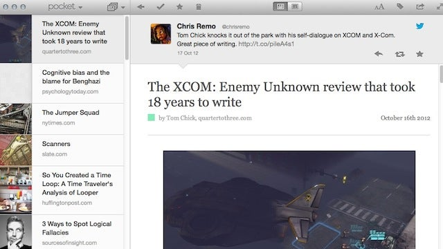 Pocket for Mac Brings Offline Reading, Bookmarking, and Text-Only to Your Desktop