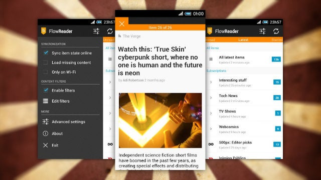 Flow Reader Is a Fast and Free Filtering Google Reader Client for Android