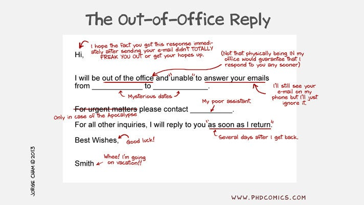 What the Out-of-Office Reply Really Means
