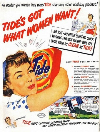 "Laundry Fetishists Rejoice: Tide Has ""What You Want"""