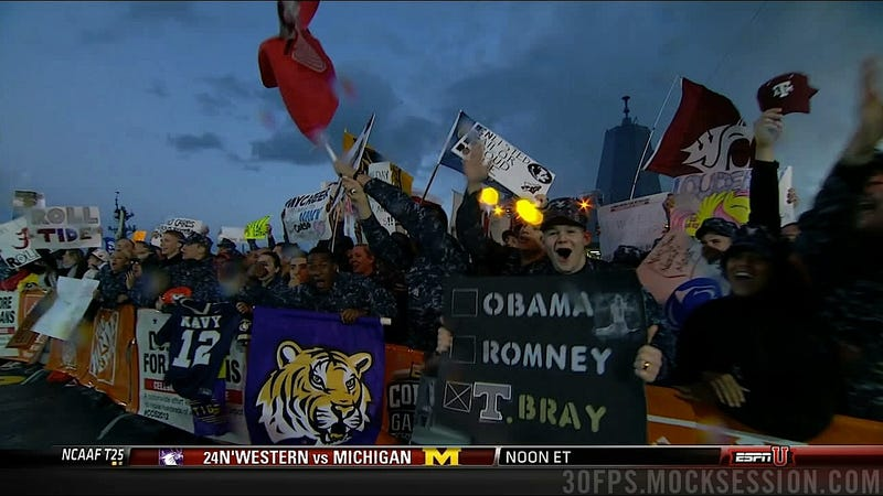 """Bring Hockey Back"": Your Roundup Of The Best Signs Behind The College Gameday Crew"