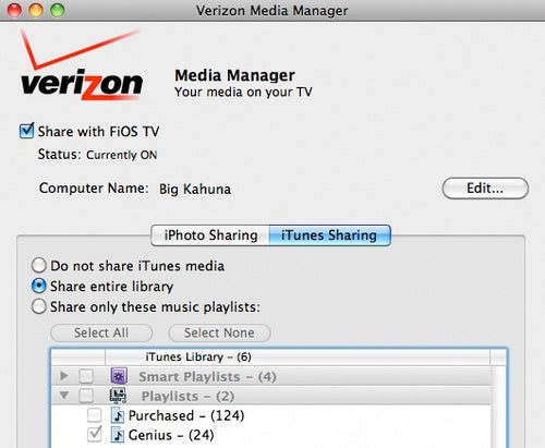Media Manager For OS X Streams iTunes To FiOS TVs
