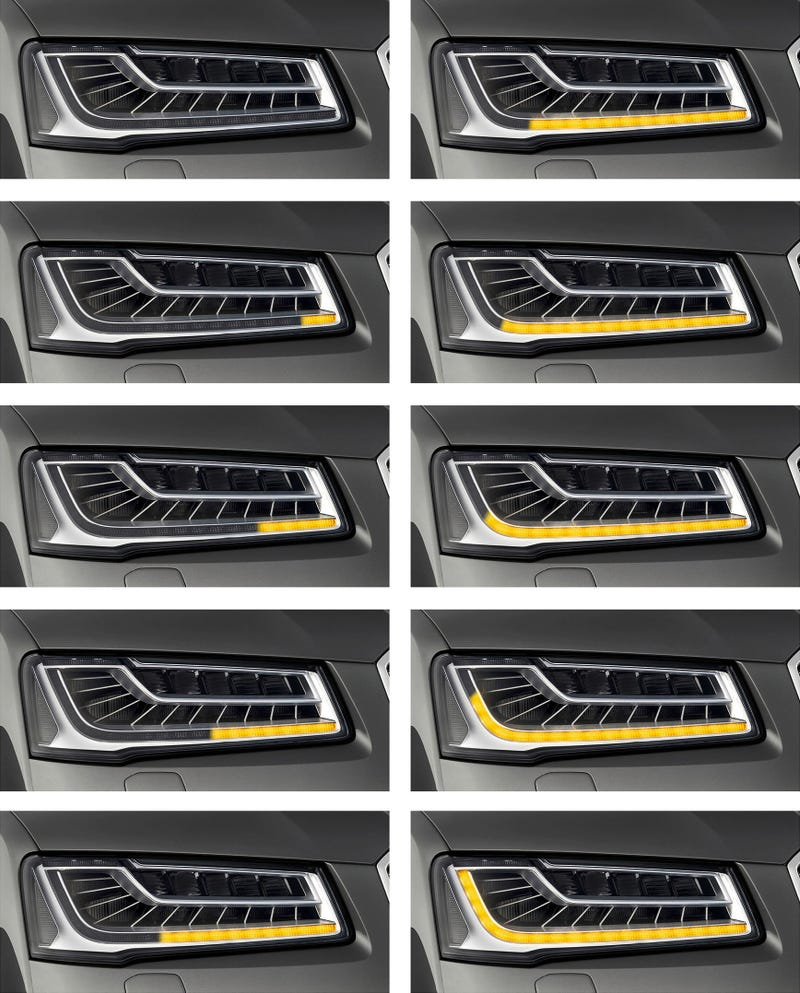 Audi Gives You The Turn Signals Of The Future With The 2014 A8