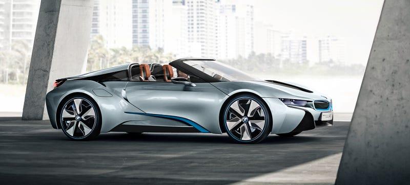 Así será el nuevo i8 Spyder de BMW, un bólido híbrido de 357 caballos