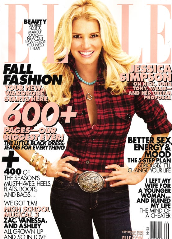 Jessica Simpson's Elle Cover: Waist Not, Want Not