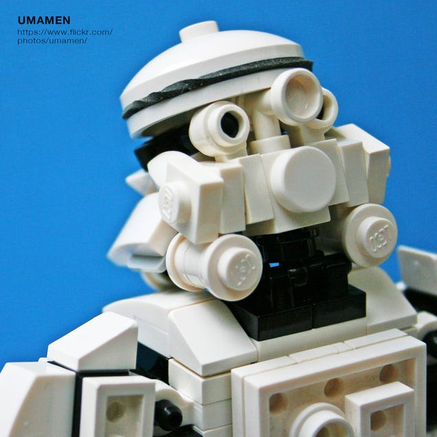 Everything about this 8-inch Lego Stormtrooper figure is perfect