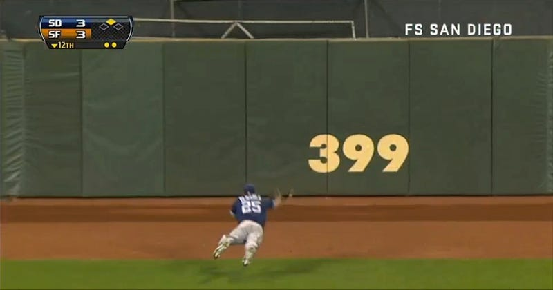 The Padres' Will Venable Made One Of The Best Catches Of The Season