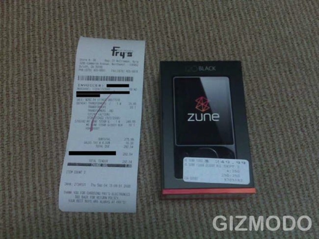 120GB Zune Purchased at Fry's for $250: Unboxed for Good Measure