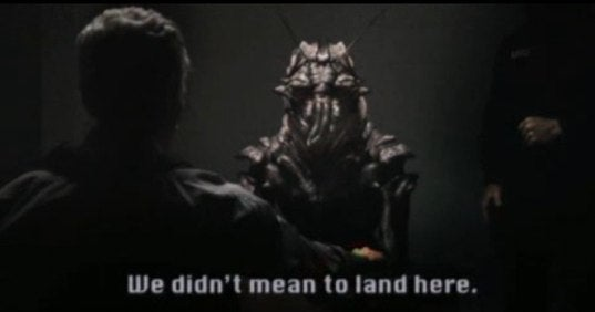 The Face And Translated Words From District 9's Alien Interrogation