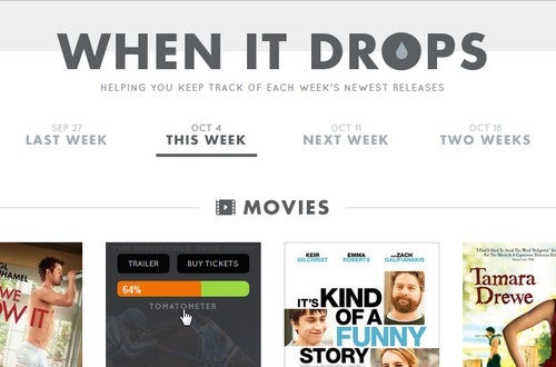 WhenItDrops Tracks Release Dates of Music, Movies, and More