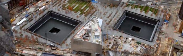 10-year time-lapse of the World Trade Center Memorial