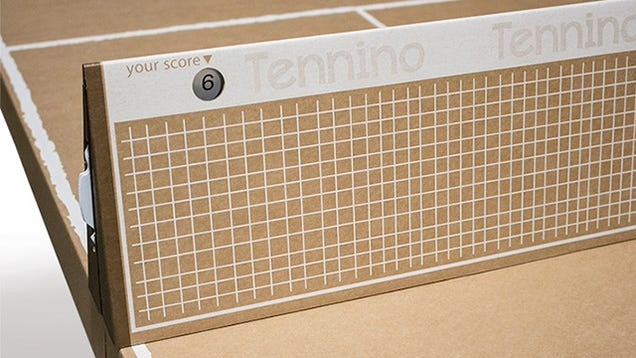 Cardboard Table Tennis Folds Down Into a Portable Cardboard Suitcase