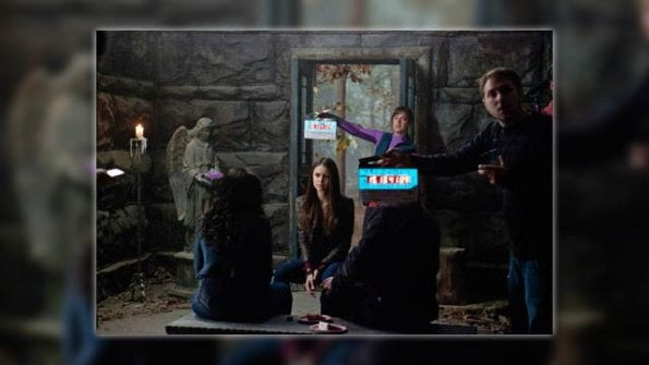 The Vampire Diaries Set Pictures