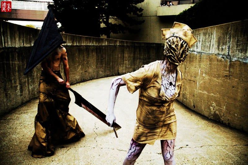 A Truly Creepy Silent Hill Nurse Cosplay