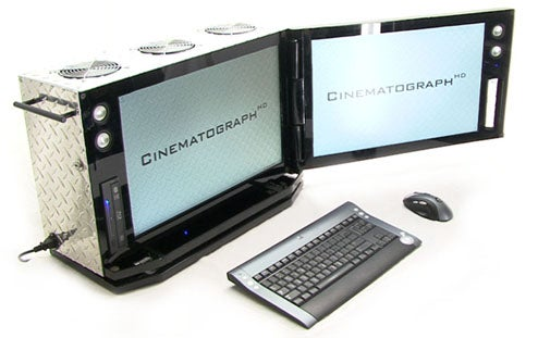 CinematographHD: Two Monitors In One Incredible Case Mod