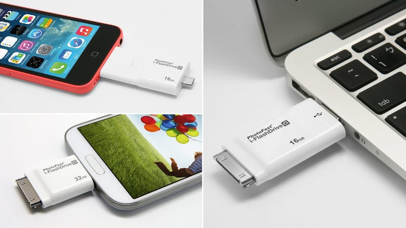 Four Different Connectors Let This Flash Drive Connect To Any Device