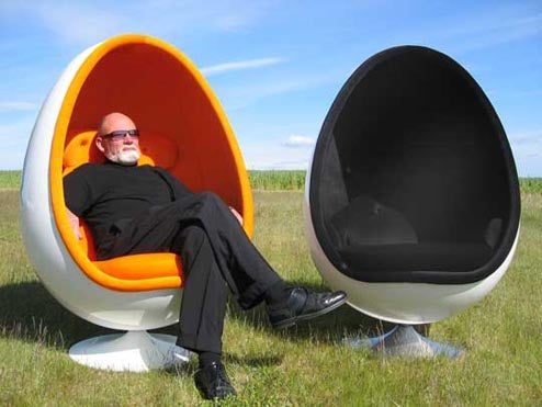Iconic Ovalia Egg Chair Reissued With Tech Upgrades