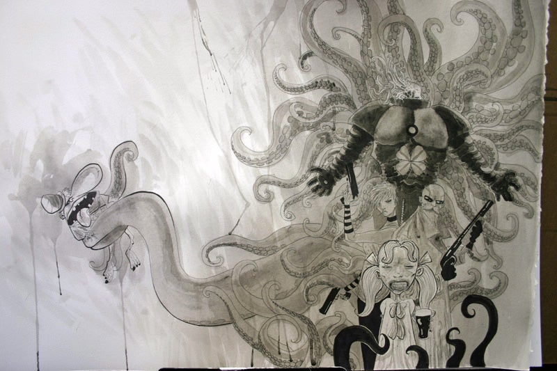 A Flurry of French Tentacles for Ben Templesmith's Wormwood