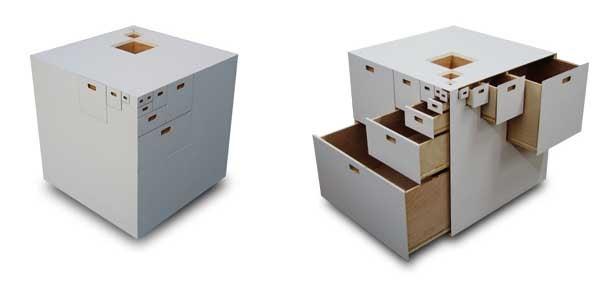 Fractal 23, Wooden Cube Gets 23-Drawer Upgrade