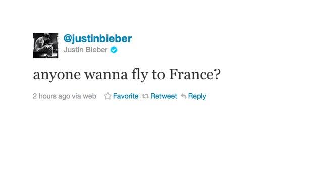 Justin Bieber Invites Us to France
