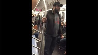 Chad Coleman Yelled Loudly at Some People on the Subway
