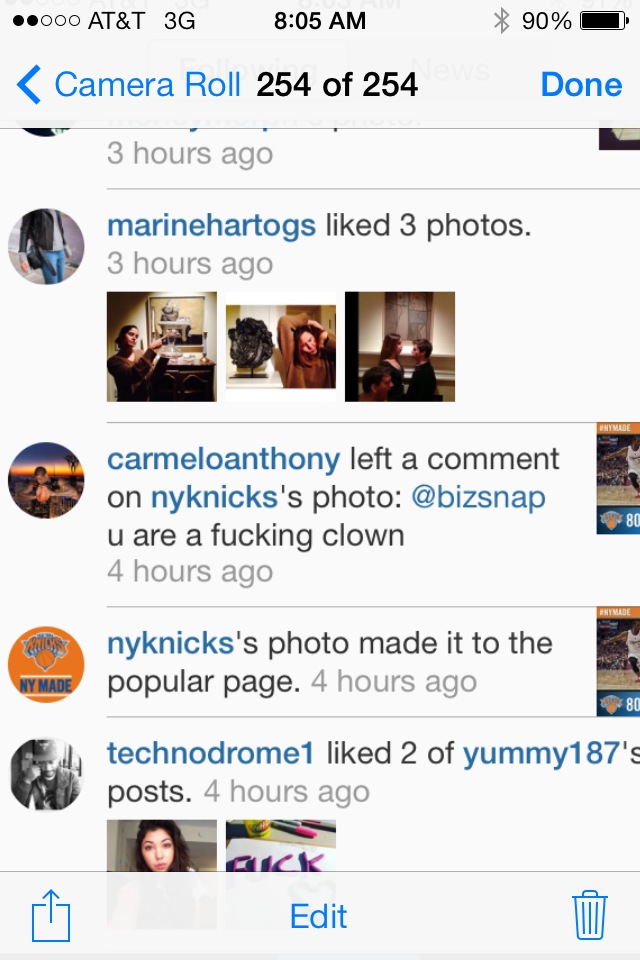 Carmelo Anthony Is Reading Your Mean Instagram Comments About Him