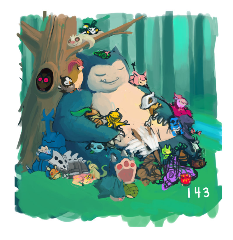 Snorlax Slumber Party! *Updated* Pokemon One a Day!