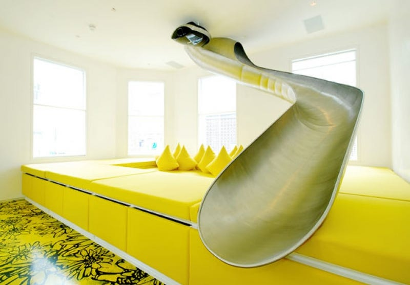 Glide Out Of Bed: Houses With Slides In Them