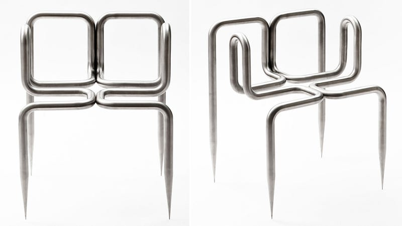 You'll Never Forget Where This Floor-Piercing Chair Sits