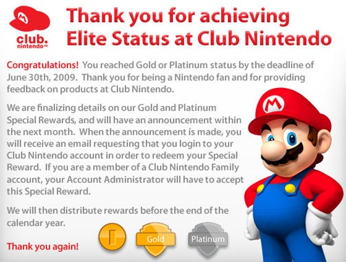 Club Nintendo Elitists Score Prizes Later This Year