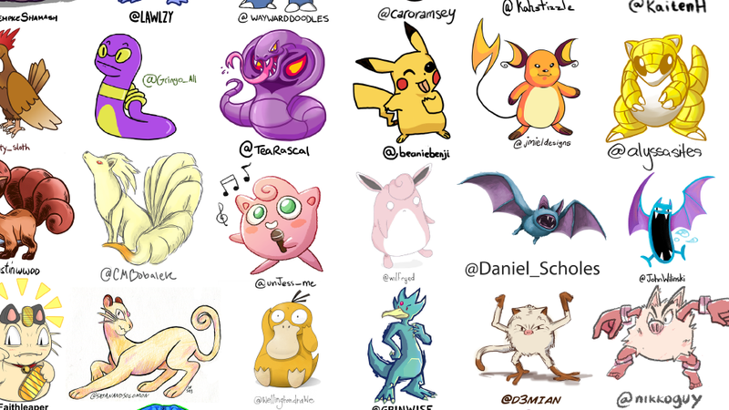 The First 151 Pokémon, Drawn by 151 Different Artists