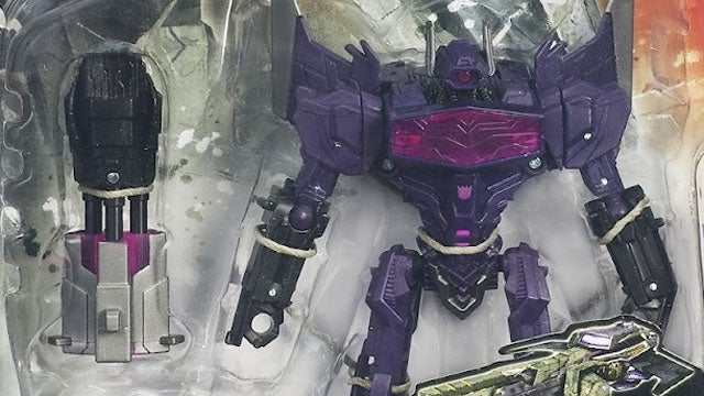 Transformers: Fall of Cybertron's Shockwave, Optimus Prime, and Jazz Trapped in Plastic Bubbles