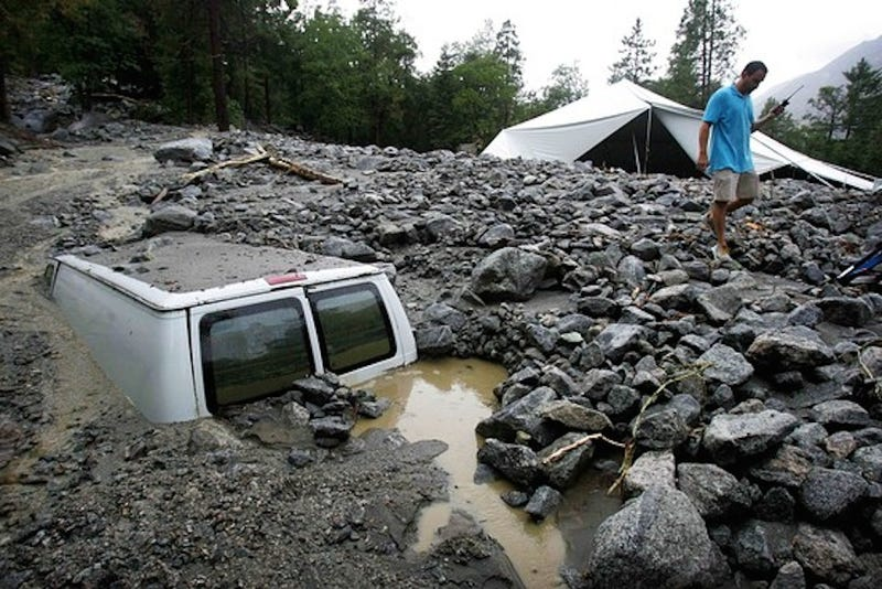 California Mudslides Leave Thousands Stranded, One Dead
