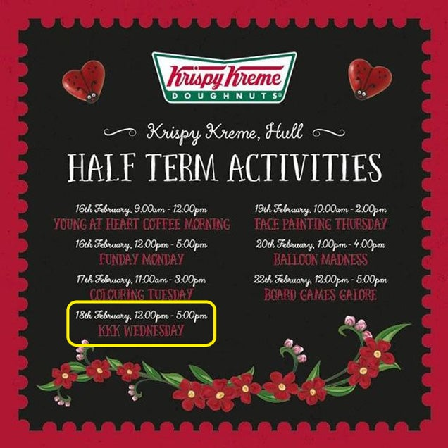 "Krispy Kreme Apologizes for Unkool ""KKK Wednesdays"" Promotion"