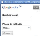 Run Google Voice Extension in a Stand-Alone Window
