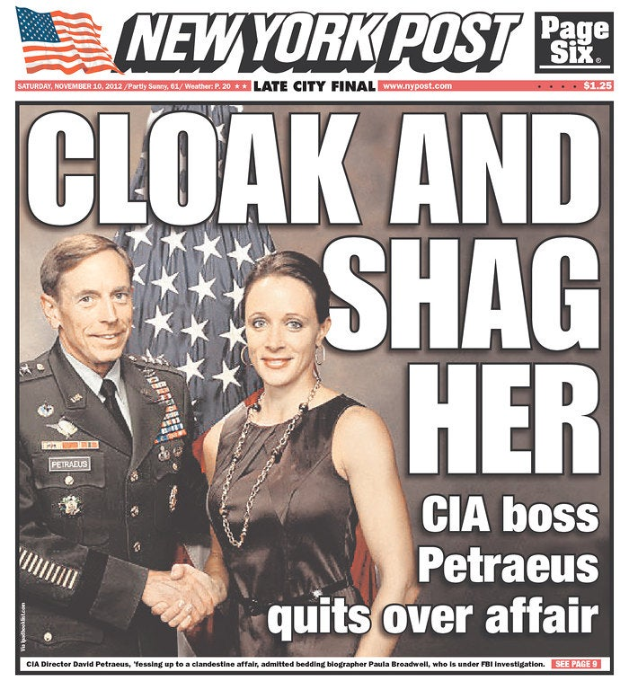The New York Post Wins The Petraeus Headline Contest