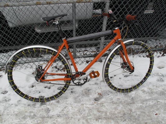 "Repurpose Zip Ties into Bicycle Snow ""Chains"""