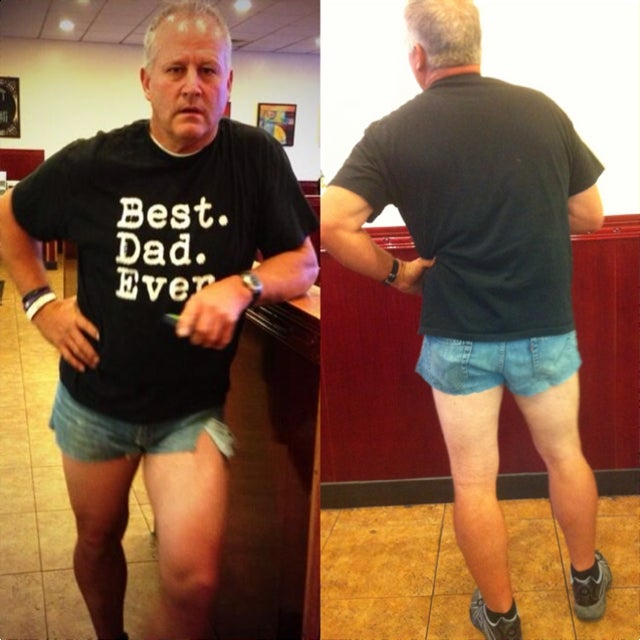 Dad Wears Short Shorts to Shame Daughter Into Wearing Modest Clothes